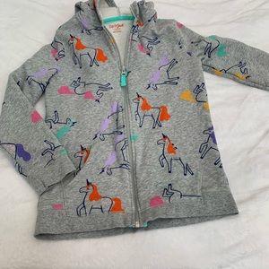 Cat & Jack Unicorn hoodie L 10/12
